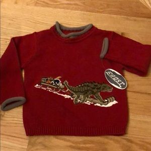 NWT Boys winter sweater sz S(5/6) Dinosaur